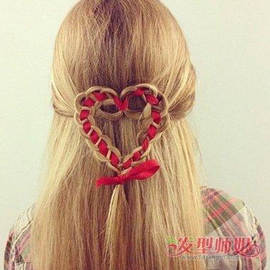 用丝带编辫子的发型 不同发型编织方法图片