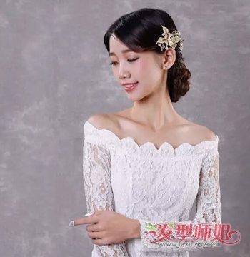 韩式新娘发型步骤图片 2018韩版新娘发型图片(7)图片