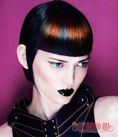 女生黑色沙宣短发发型