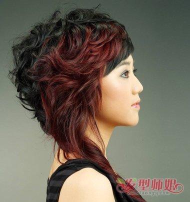 沙宣头接长发的图片 女生中长发沙宣头发型图片