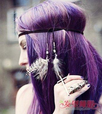 16岁女生适合染紫红色吗 适合紫红色的发型