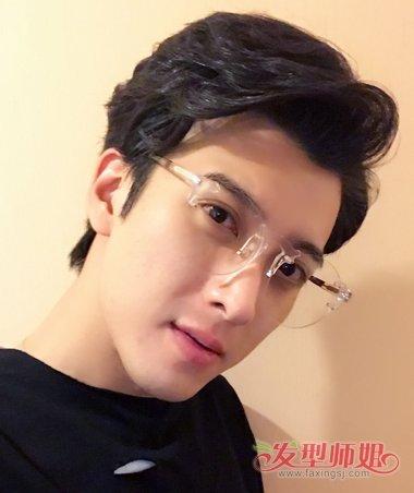 男生发型 男明星发型 >> 应昊茗大片玩转混搭时尚 黑色短烫发 潮镜随图片