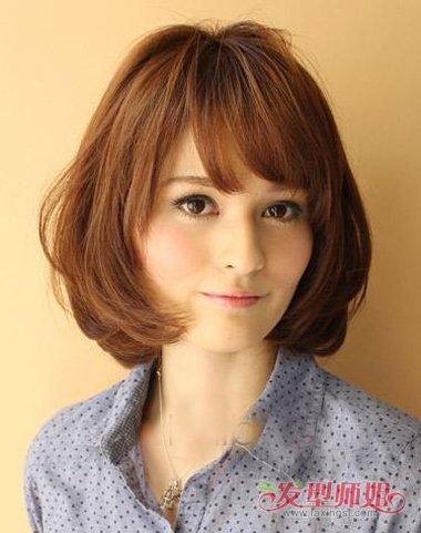 深梨木色头发图片女生 梨木色头发效果图