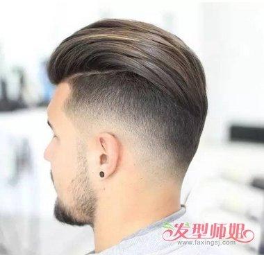 侧背头发型设计 男生短发造型图片
