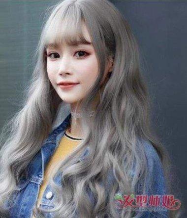 奶奶灰亚麻色头发图片 亚麻不褪色染奶奶灰(2)