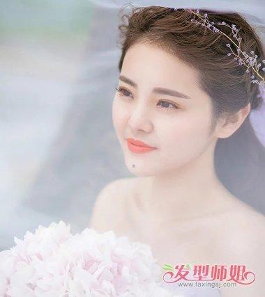森女风婚纱发型 2018森系新娘发型图片