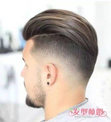 英伦男士卷发背头 2019男士背头发型图片