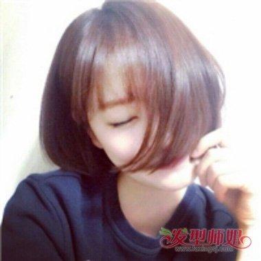 潮女的潮流发型系 脸大可以剪二次元刘海吗