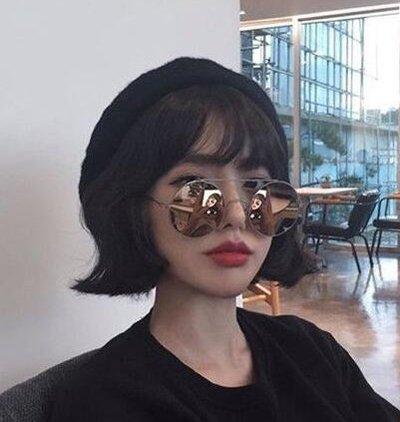 刘诗诗宋茜都爱反翘烫短发 get今年超流行的上翘短发发型(2)图片