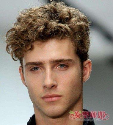 欧美男生泡面头发型 男生泡面头烫发发型(2)