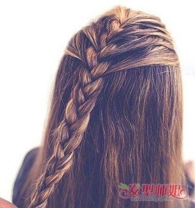 教你编清爽辫子步骤图解 女生清爽简单辫子发型编法图片