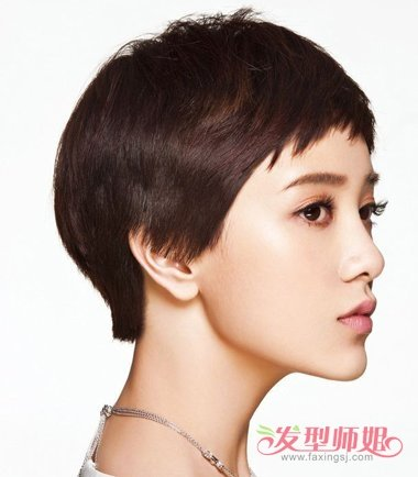 郭采洁狗啃短发发型 女生狗啃短发发型图片