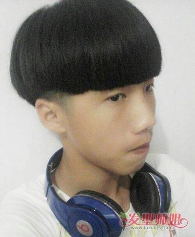 快手男生蘑菇发型 男蘑菇平刘海发型图片