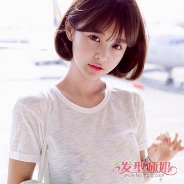 学生二次元刘海短发 女生刘海配衣服_发型师姐图片