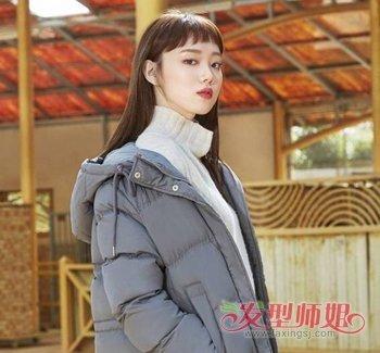 圆脸适合狗啃式刘海吗 圆脸女生时尚狗啃刘海发型图片
