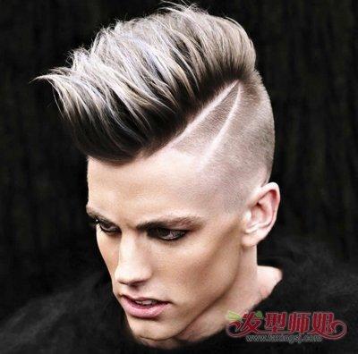 男士发型二八分飞机 偏飞机发型图片男生图片