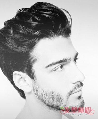 欧美油头_男生发型 欧美男发 >> 外国男士短发油头 男士偏分油头  男生油头发型