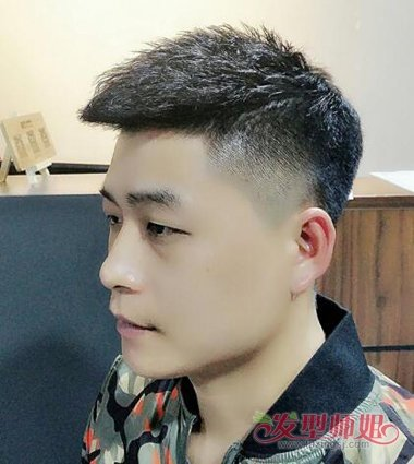 社会男瓜子头发型 精神社会小伙发型图片