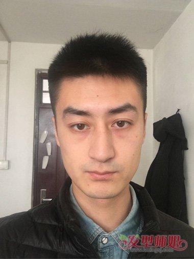 男生脸大头发硬造型 适合剪寸头吗_发型师姐图片