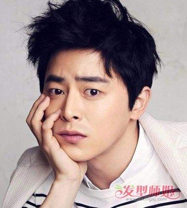 韩式偏分办公发型 男士短发偏分发型图片图片