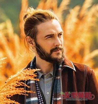 男士大圆脸适合什么发型 圆脸男士小辫子发型图片