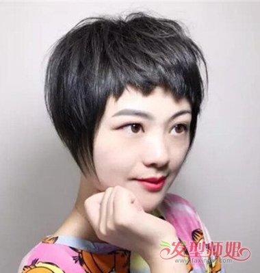 脸大的狗啃式短发 狗啃式刘海中短发_发型师姐