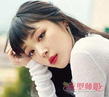 圆脸女生二次元刘海发型图片 大圆脸女生怎么剪二次元图片