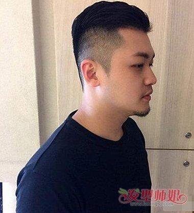 圆脸大背头发型图片 适合圆脸的男生背头发型图片