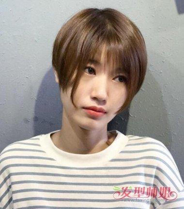 女生圆脸的 发型设计中,波波头发型是修颜效果很好的,短发波波头发型图片