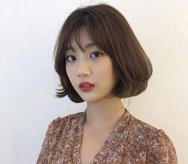 2018最新韩式女生短发发型look 清甜女生必备发型(4)