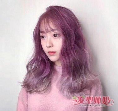 两段色头发图片大全 头发两段颜色怎么染