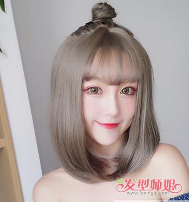 韩式半丸子头发型图片 韩版半丸子头图片图片