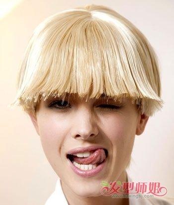 波波头齐耳短发怎样剪 齐耳短发女波波头图片_发型师姐图片