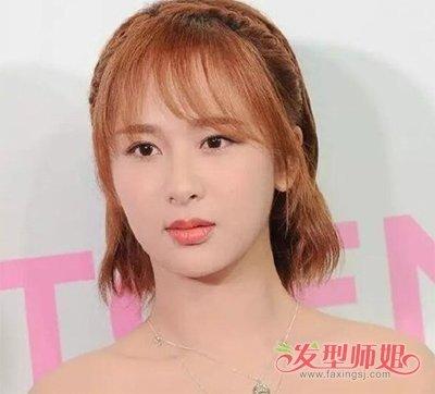 发型,现在脸型愈发小巧精致的杨紫真的很美,倾斜刘海梳理的中短碎发