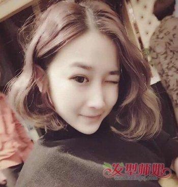 韩式短发蛋卷头水波纹 蛋卷头短发教程图片
