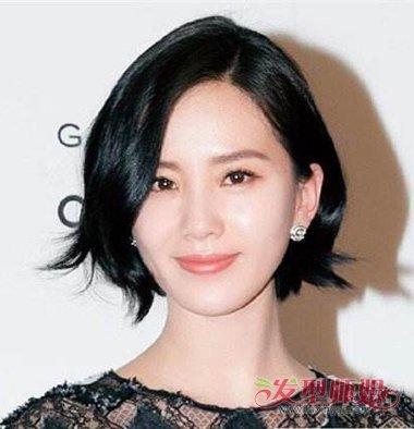 刘诗诗不规则短发 刘诗诗短发发型图片图片