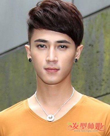 瓜子脸适合什么刘海 男士标准脸发型图片图片