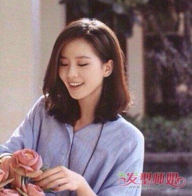 刘诗诗侧分和中分发型 刘诗诗披肩发型图片