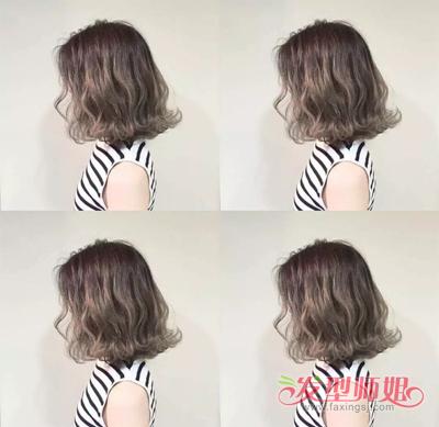 短发外翻波波头发型