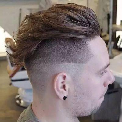 男生短发背头发型图片