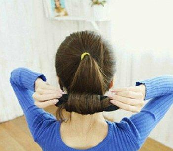 女生超简单时尚丸子头扎法大全_发型师姐图片