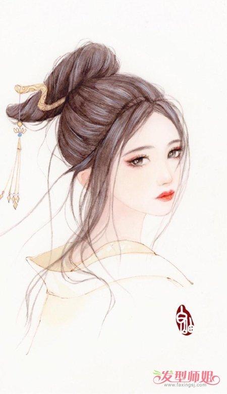 美到心碎的古风美造型图 唯美古风女子手绘发型图片