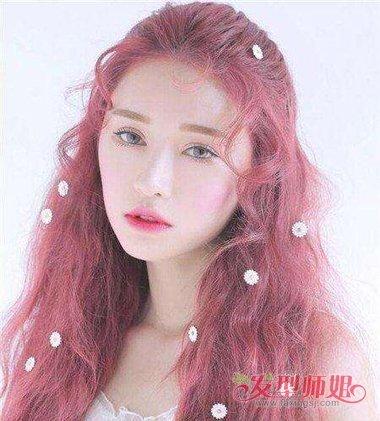 粉色头发可以维持多久 小水波纹粉色发型图片图片