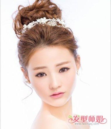 高发髻盘发图解 高发髻新娘发型图片图片