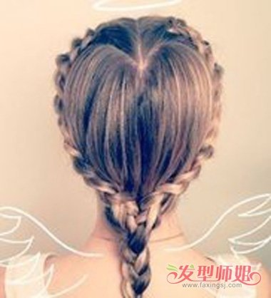 如何扎爱心辫子发型 简单的爱心马尾辫(3)