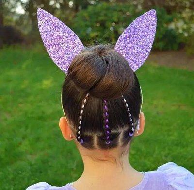 儿童丸子头扎发发型图片