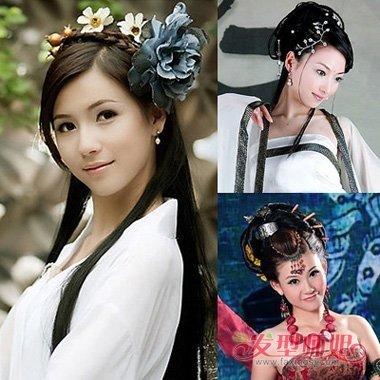 清朝嫔妃等级发髻图片 古装女子头饰 盘发(2)图片