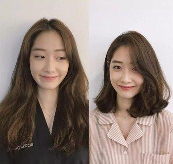 如果你觉得自己的脸型不是很长,那这种长 直发发型还是可以尝试的,将图片