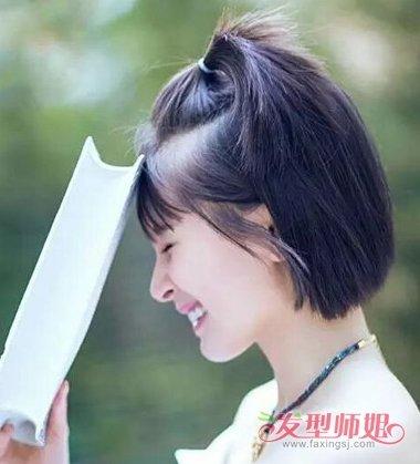 短发苹果头扎法图解 苹果头发型怎么扎短发(2)图片