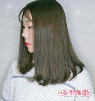 怎么剪 直发梨花头发型图片  脸颊的头发都梳成了直发,女生斜 刘海图片